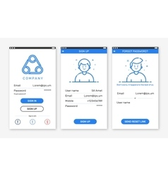 Onboarding app screenst vector