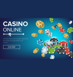 Online casino poster poker gambling casino vector