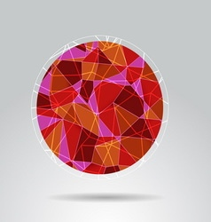 Orange polygon ball design background vector image