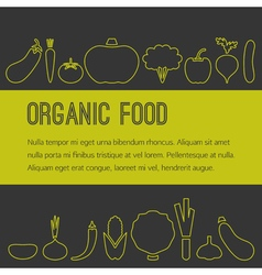 Organic food brochure vector