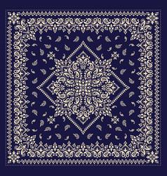 Ornament bandana print traditional vector