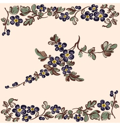 pattern floral blue flower vector image