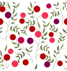 pattern with berries vector image