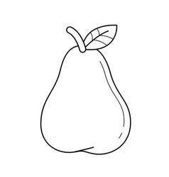 pear fruit line icon vector image