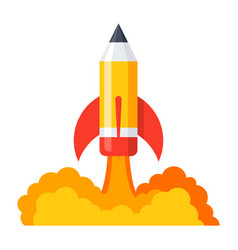 pencil launch icon vector image
