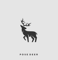pose deer template vector image
