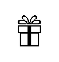 present gift box flat icon vector image