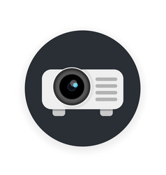 Projector icon in flat style vector