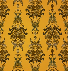 Retro bird wallpaper vector
