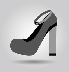 Single women platform high heel strap shoe icon vector