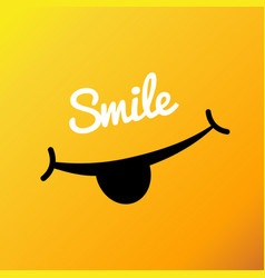 Smiley face poster world smile day smiley vector