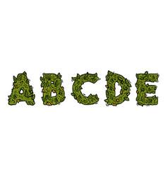 some part decorative green marijuana letters vector image