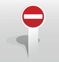 Sticker Do Not Enter sign vector image