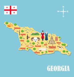 stylized map georgia vector image