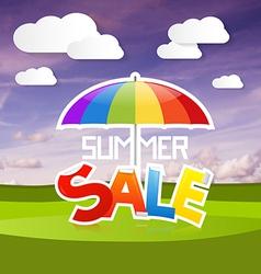 Summer Sale on Landscape Background vector image