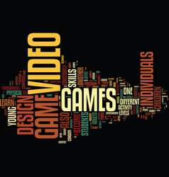 The art of video game design text background word vector