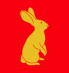 Vintage hare hand drawn vector