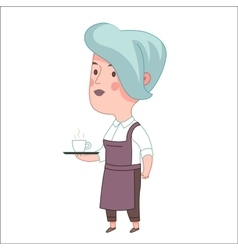 Waitress Dodo people collection vector image