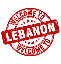 Welcome to lebanon vector