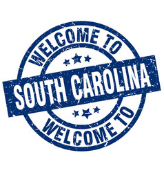 Welcome to south carolina blue stamp vector