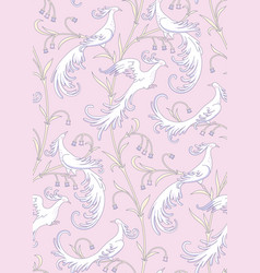White birds pattern vector