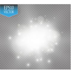 white glitter wave white star vector image