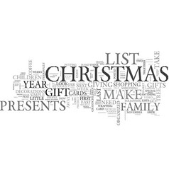 become organized this christmas text word cloud vector image vector image