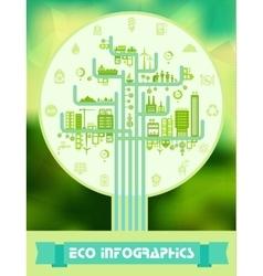 Flat eco infographics vector image