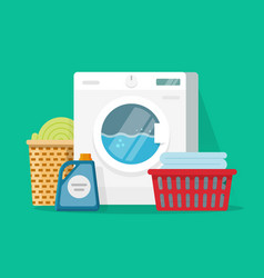 laundry room service flat vector image