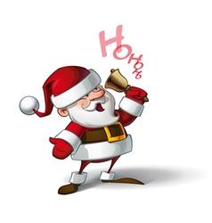 Smilling Santa Ho Ho Ho vector image