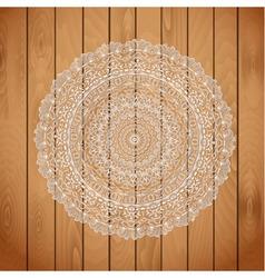 wooden arabic vector image vector image