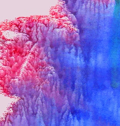 Abstract watercolor background Pink and blue vector image