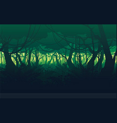 background of landscape with deep jungle forest vector image vector image