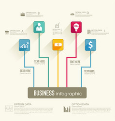 business infographic workflow concept vector image vector image