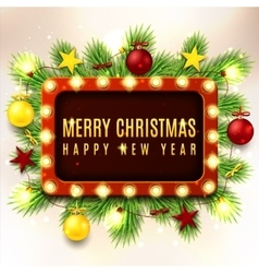 Christmas with red and yellow toys vector image vector image