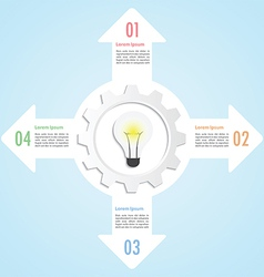 Gear and lightbulb infographic design template vector image vector image