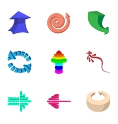 Index icons set cartoon style vector image vector image