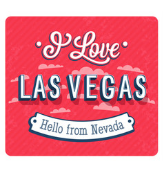 vintage greeting card from las vegas vector image