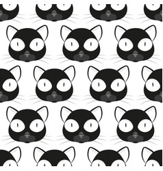 cat face pattern vector image