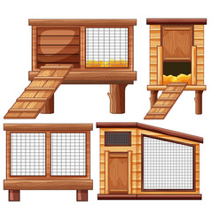 Different designs of animal coops vector