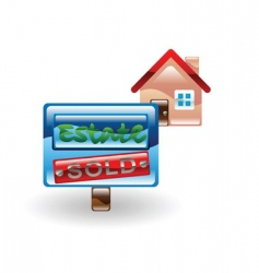 house sold vector image vector image