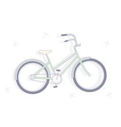 on white background bicycle vector image vector image