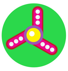 pink spinner with white balls vector image vector image