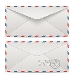 Postage envelopes vector image vector image