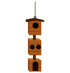 birdhouse design with wood vector image vector image