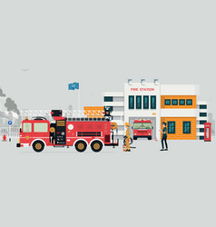 fire station vector image vector image
