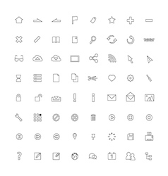 Icon ThinLine Web vector image vector image
