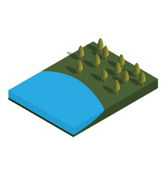 nature isometric vector image vector image