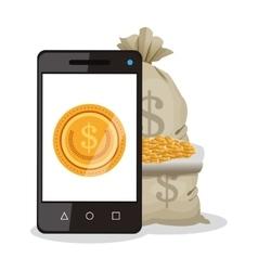 Smartphone businnes and financial design vector