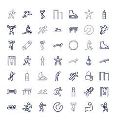 49 athlete icons vector